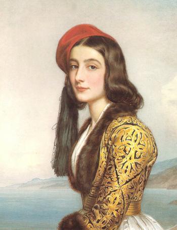 Катерина Роза Ботсарис. Красавица галереи Людвига I Баварского