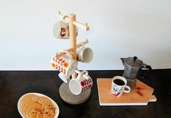 Деревянная подставка для чашек своими руками
