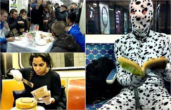 17 эпичных снимков о колоритных пассажирах метрополитена
