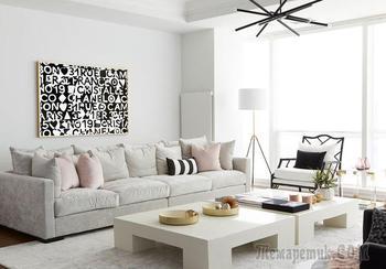 Белая квартира с гламурными нотками для девушки в Канаде