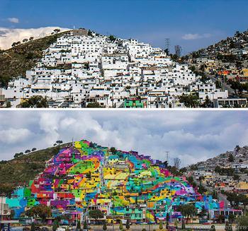 Раскрасим мир яркими красками: чудесное превращение серых зданий в произведения искусства с помощью граффити