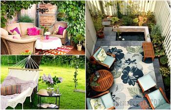 17 примеров оформления уголков отдыха, которые захочется воплотить в своем дворе