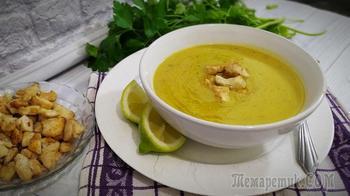 Суп пюре из красной чечевицы с курицей
