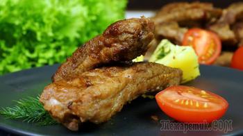 Рецепт свиных ребрышек в сковородке