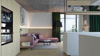 Уютная квартира в Киеве в пастельных тонах