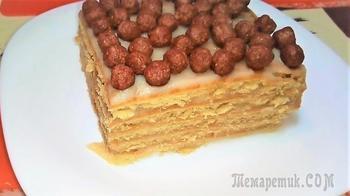 Торт без выпечки из печенья с заварным кремом.