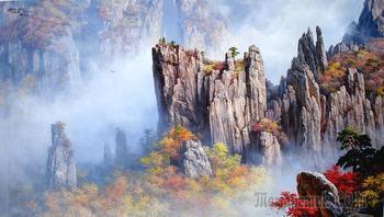Корейская живопись.  Ян Юн Пхун - Yang Yun Pung (양윤풍). КНДР