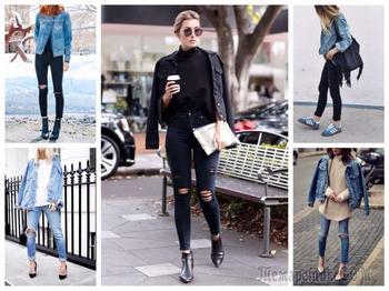 С чем и как правильно носить джинсовую куртку