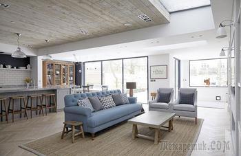 Дом в Лондоне со спокойным интерьером и уютным задним двором
