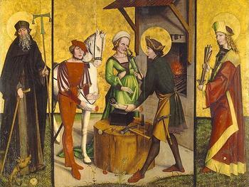 Животные на изображениях святых: Зачем св. Элигию лошадиная нога, почему св. Бригитта всегда с лисой и другие странности