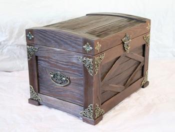 Сундук своими руками — как сделать из коробки, бумаги и дерева