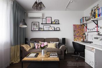 Квартира для молодой пары с мебелью ИКЕА