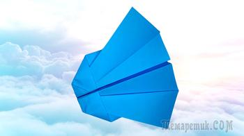 Как сделать самолётик из бумаги для детей очень просто