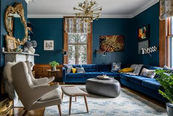 Душевная эклектика в доме дизайнера в Нью-Йорке