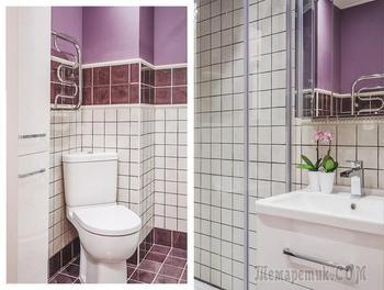 Как оформить ванную площадью 3 квадрата: реальный пример в Москве