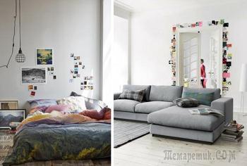 25 способов украсить интерьер своими фотографиями