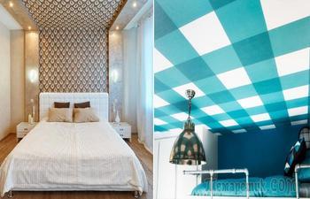 Обои на потолок, или Как правильно и стильно украсить «крышу» над головой