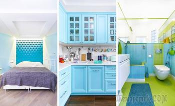Бирюзовый цвет в московских квартирах: лучшие примеры