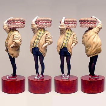 Переменчивое настроение деревянных скульптур Йошитоши Канемаки