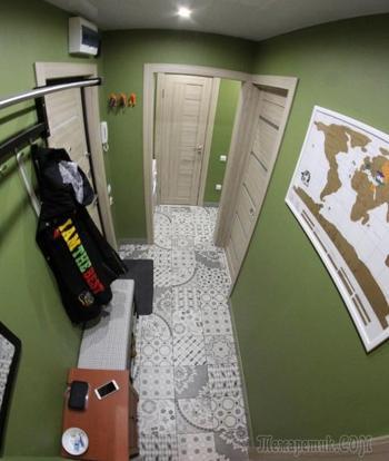 Светлый фисташковый коридор