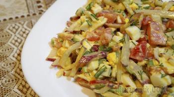 Салат из редиски и помидоров
