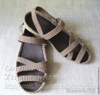 Мастер-класс: вязаные сандалии, или обувь из ничего