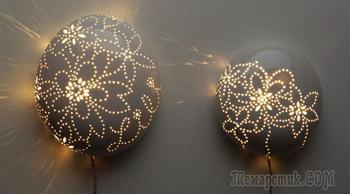 Оригинальные самодельные светильники на стену
