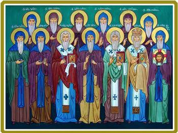 Преподобный Иоанн Зедазнийский и 12 его учеников
