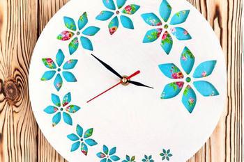 Азбука рукодельницы: как сделать настенные часы своими руками