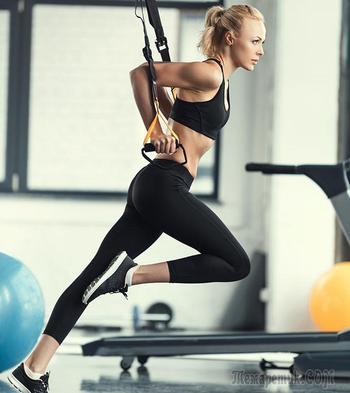18 упражнений с петлями TRX для красивого и подтянутого тела