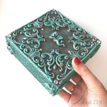 DIY Красива шкатулка из картона своими руками | Как сделать шкатулку