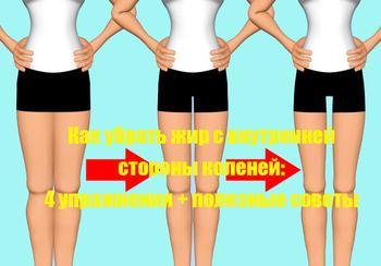 Как убрать жир с внутренней стороны коленей: 4 упражнения + полезные советы