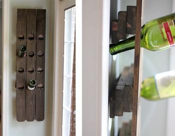 4 идеи как сделать подставки для бутылок своими руками