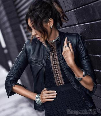 С чем носить куртку косуху: 32 стильных образа для вдохновения