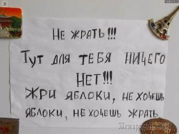 Смешные и неожиданные записки на холодильнике