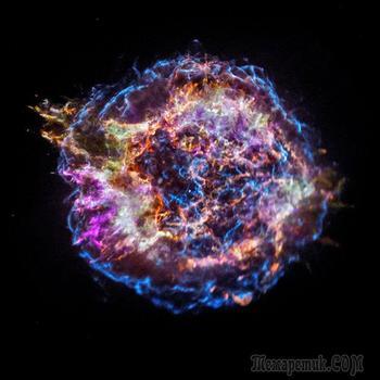 Ученые определяют элементный состав остатков сверхновой Кассиопея А