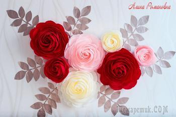 Создаем фотозону из больших роз. Часть 2