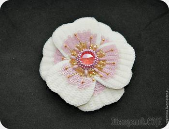Создаем брошь-цветок «Аврора»