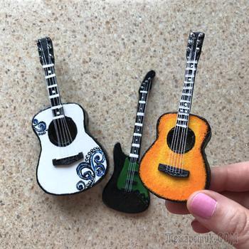 DIY Мини-гитара из картона | Идея из картона | Миниатюрная гитара