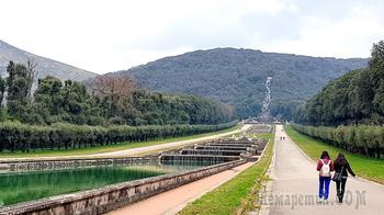 Италия в конце января 09. Казерта. Парк королевского дворца