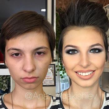 25 женщин до и после макияжа, которые стали выглядеть почти как другие люди