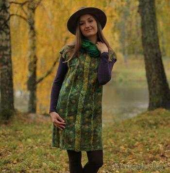 Удивительные превращения: валяем сарафан из шерсти и шелка