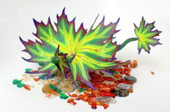 Сказочные дракончики из полимерной глины