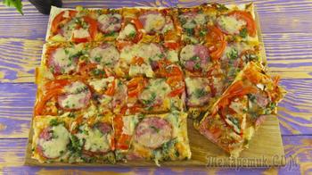 Пицца на лаваше за 15 минут
