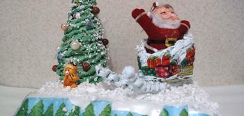 Плетение из газет: МК «Ёлочка и сани Деда Мороза>>