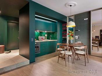 Маленькая квартира в смелой цветовой гамме в Киеве