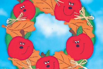 Азбука рукодельницы: как сделать венок с яблоками своими руками