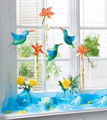 Райские птички и цветы своими руками