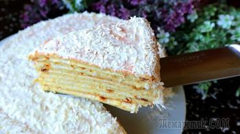 Знаменитый торт Сметанник на сковороде