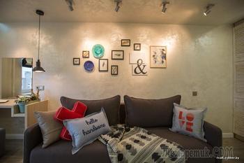 Дизайнеры и строители сделали стильный ремонт в комнате молодой пары
